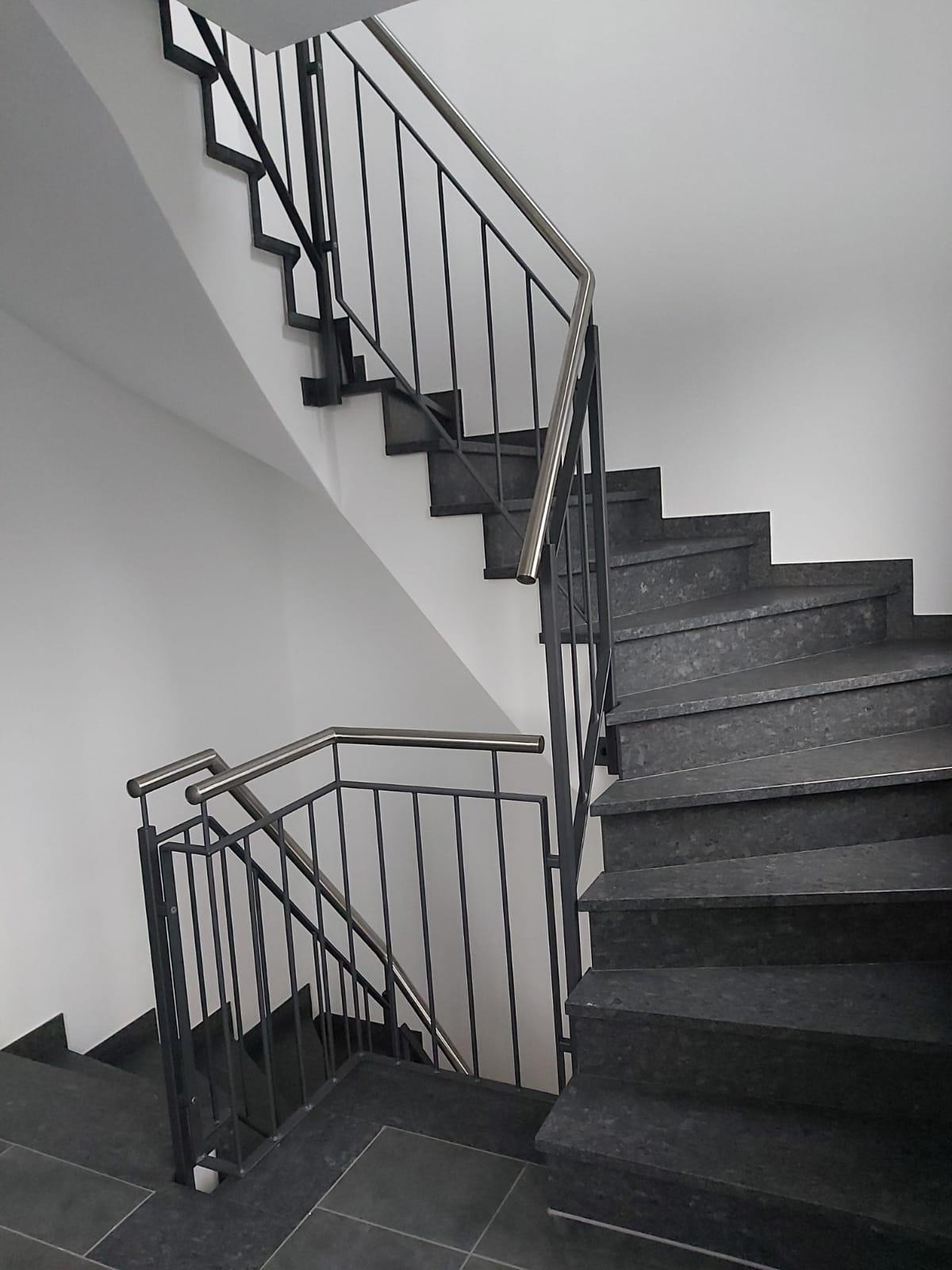 Treppengelände. Treppenturm